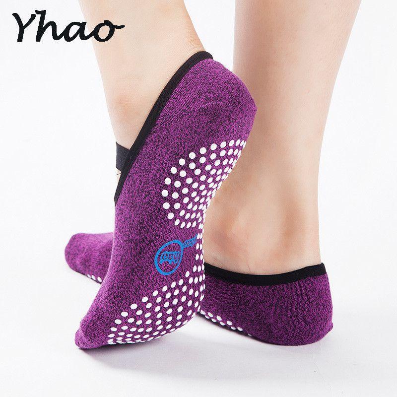 Femmes qualité supérieure Bandage chaussettes de yoga Anti-Glissement Rapide-Sec Amortissement Pilates chaussettes de ballet Bonne Prise en Main Pour Hommes et Femmes chaussettes en coton