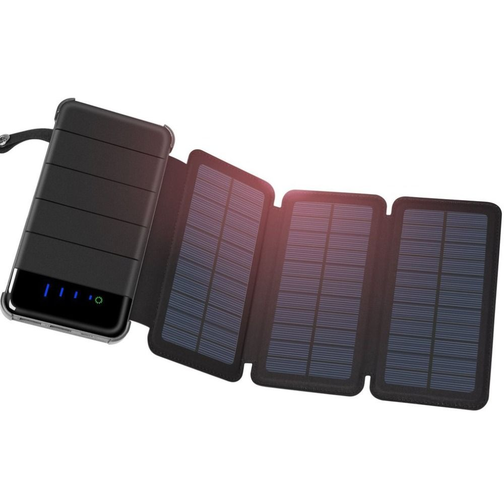 Wopow 20000 mAh Sunny spare batteries Portable Battery Charger Solar Battery External Universal Power Bank for Iphone for Xiaomi