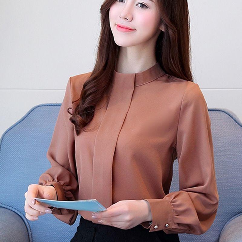 New Autumn Women Blouse Long Sleeve Chiffon Blouse Mujer Fashion Ladies Shirts Casual Blusa Feminino Tops Plus Size Lady Shirt