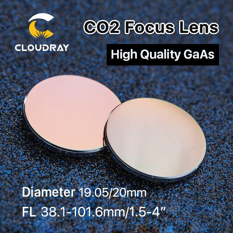 Lentille de mise au point Cloudray GaAs Dia. 19.05/20mm FL 50.8 63.5 101.6mm 1.5-4 haute qualité pour Machine de découpe de gravure Laser CO2