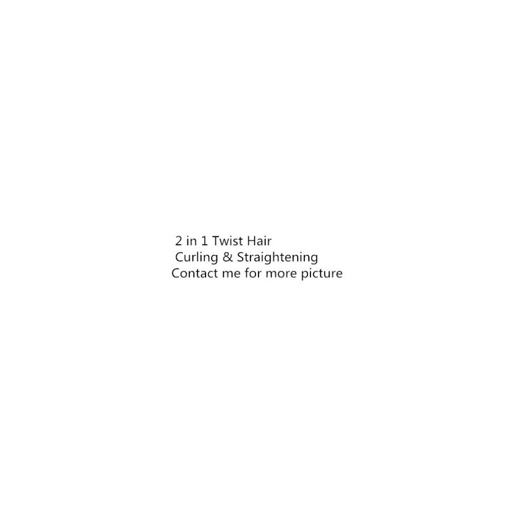 Professionnel 2 en 1 cheveux Curling & redressage fer cheveux lisseur cheveux bigoudi humide & sec plat fer Styler