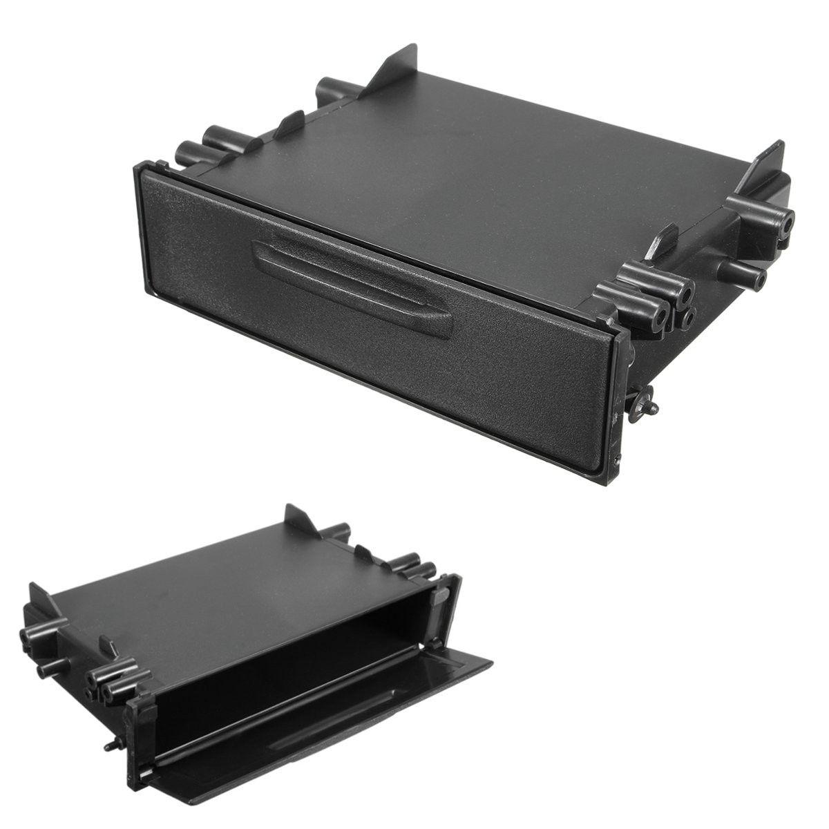 Универсальный Одиночный din Автомобильные CD-плееры Радио стерео Даш отделка Коробка для хранения Организатор Комплект