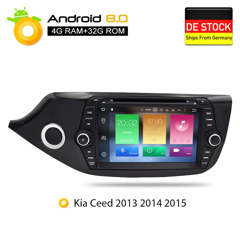 Android 7.1 8.0 Car DVD Player GPS Glonass Navigation Multimedia for Kia Ceed 2013 2014 2015 Auto RDS Radio Audio Video Stereo