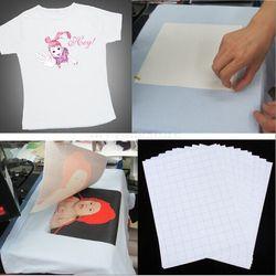 2018 hot sale 10PCS Sheets T-Shirt A4 Iron On Inkjet Heat Transfer Paper For Light color Fabrics Cloth