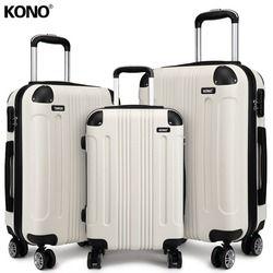 3-8 Jours pour Livrer KONO 3 Pièces Bagages Valises et Sacs de Voyage Set Carry Sur Le Cas De Chariot 4 Roues Spinner 20 24 28 Pouce