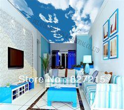 S-0191/голубое небо/печать потолочная плитка/ПВХ Натяжная потолочная пленка/украшение дома или потолка/Функция как потолочная панель