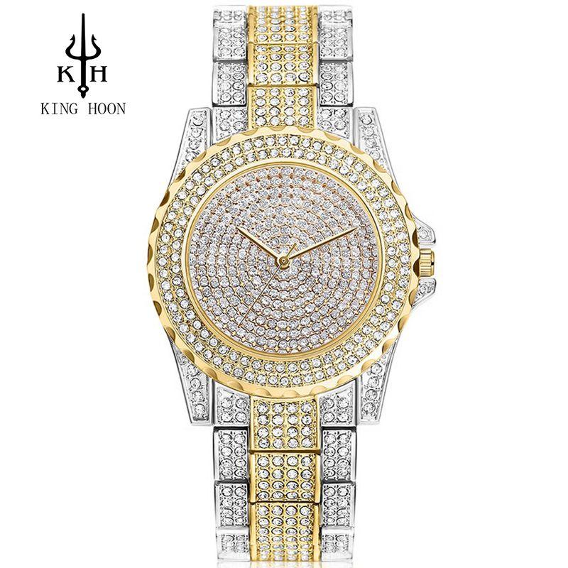 <font><b>2016</b></font> New Arrival Luxury Women Watches Rhinestone Crystal Wristwatch Lady Dress Watch Men's Luxury Analog Quartz Watches Relogio