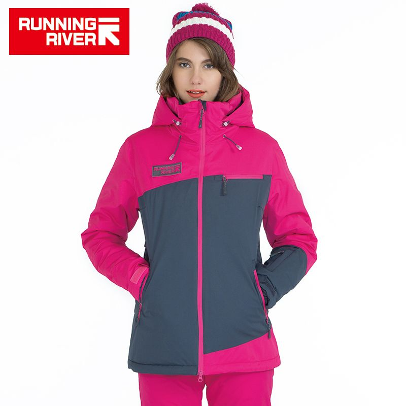 FLUSS Marke Frauen Skijacke Für Winter 3 Farben 6 Größe Warme Outdoor Sport Frau Jacken Hohe Qualität Kleidung # A5011