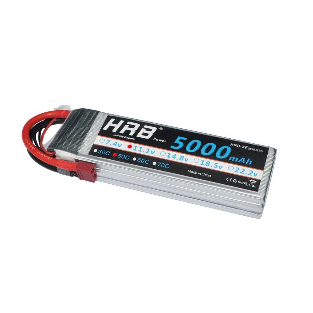 HRB Lipo batterie 3 S 11.1 V 5000 mAh 50C XT60 T Deans EC5 XT90 TRX Bateria RC pièces pour HSP avion voitures de course sur chenilles 1/10 bateau