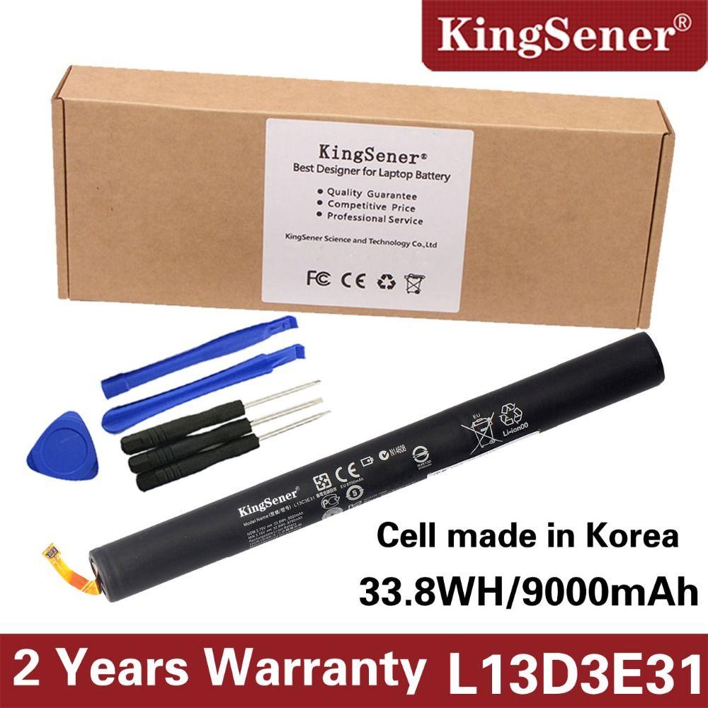 3.75V 9000mAh KingSener New L13D3E31 Laptop Battery For LENOVO YOGA 10 B8000 B8080 Series Tablet L13C3E31 L13D3E31 Free shipping