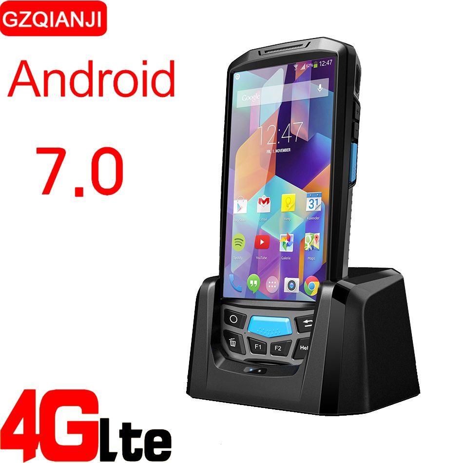 Smart Handy Handheld terminal pda mit bluetooth 4,0 3g 4g Android Barcode reader 1D 2D QR mit 8MP kamera GPS NFC option