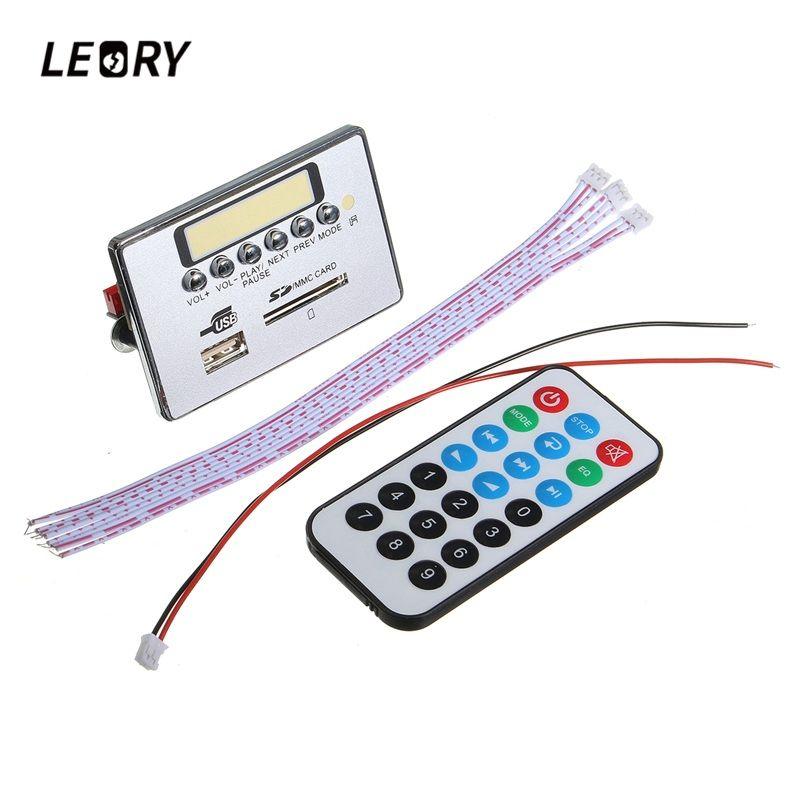 LEORY Drahtlose Bluetooth MP3 WMA Decoder Board 12 V Audio Modul Mit USB Tf-karte SD U Disk Port Für Auto Audio Verstärker bord