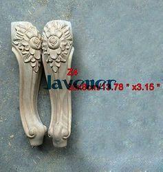 Z4-35x8 см деревянные резные Апликация декор для плотника деревообрабатывающие плотник украшения нога цветок