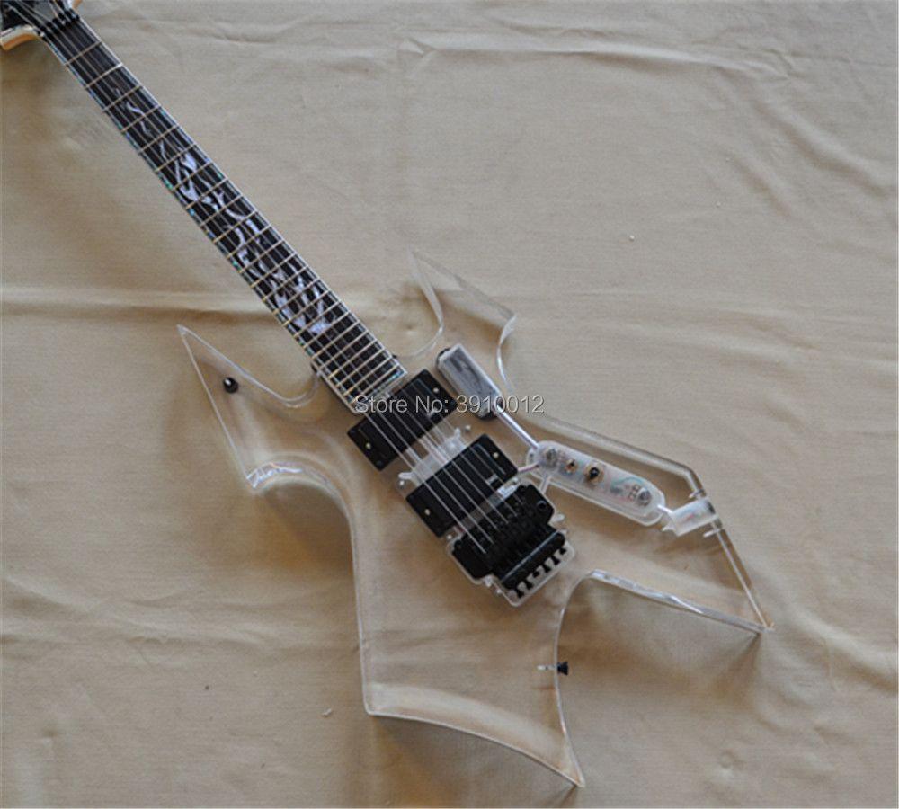 Factory custom acryl LED elektrische guitarra Freies Verschiffen