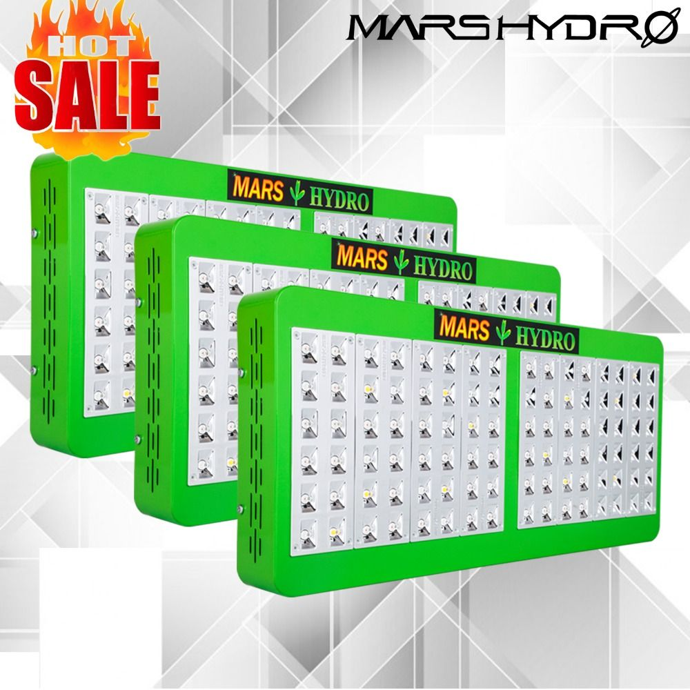 3PCS Mars Hydro Reflector 480W Full Spectrum LED Grow Light /Panel for Grow tent /Box