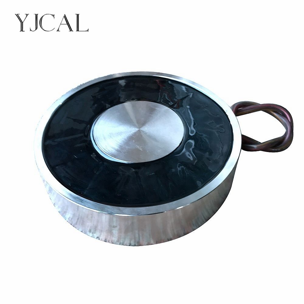 YJ-240/80 Holding Electric Sucker Electromagnet Magnet Dc 12V 24V Suction-cup Cylindrical Lifting 3000KG Suction Plate China