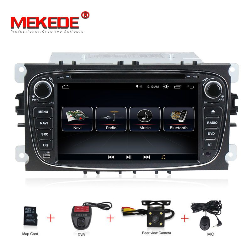 1024x600 Android 8.0 Car Multimedia Player GPS 2 Din car dvd player for FORD/Focus/S-MAX/Mondeo/C-MAX/Galaxy wifi car radio