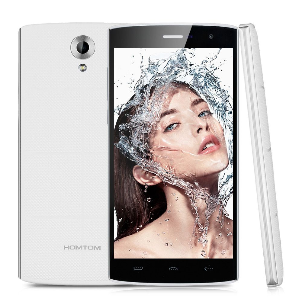 HOMTOM HT7 smartphone Quad Core 1280x720 HD video play 3000mAh black white color 1GB RAM 8GB ROM 8MP beauty camera 5.5 inch