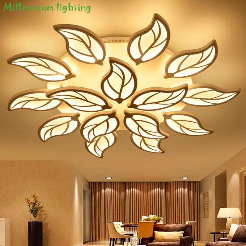 Modern living room ceiling lighting Acrylic bedroom Restaurant chandelier ceiling indoor home fixtures white AC90-260V QianXia