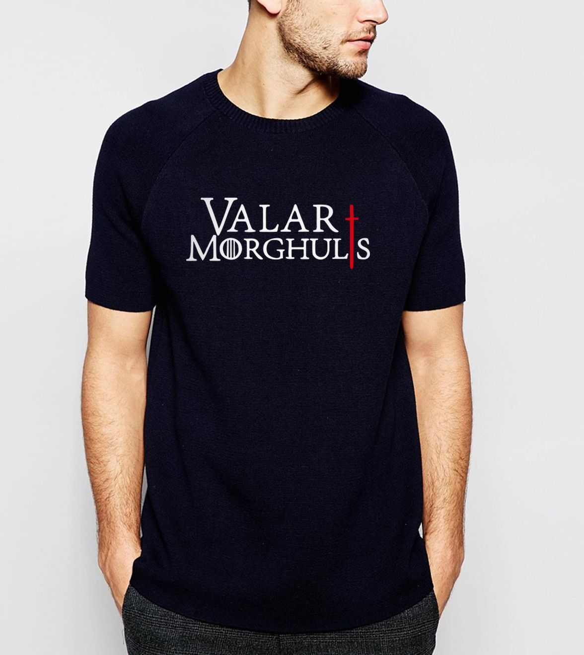 hot sale Game of Thrones Valar Morghulis Printes T-shirt 2017 Summer Fashion Casual Short Sleeve O-neck Men T shirts 100% Cotton