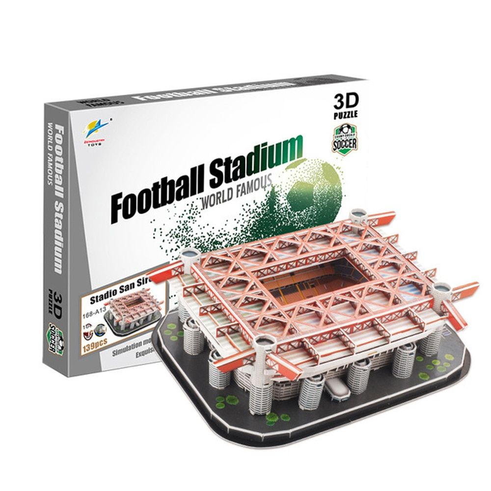 Football Stadium Jigsaw Model Developing Children's Intelligence DIY multiple choices Children and fans gifts 2018 dropshipping