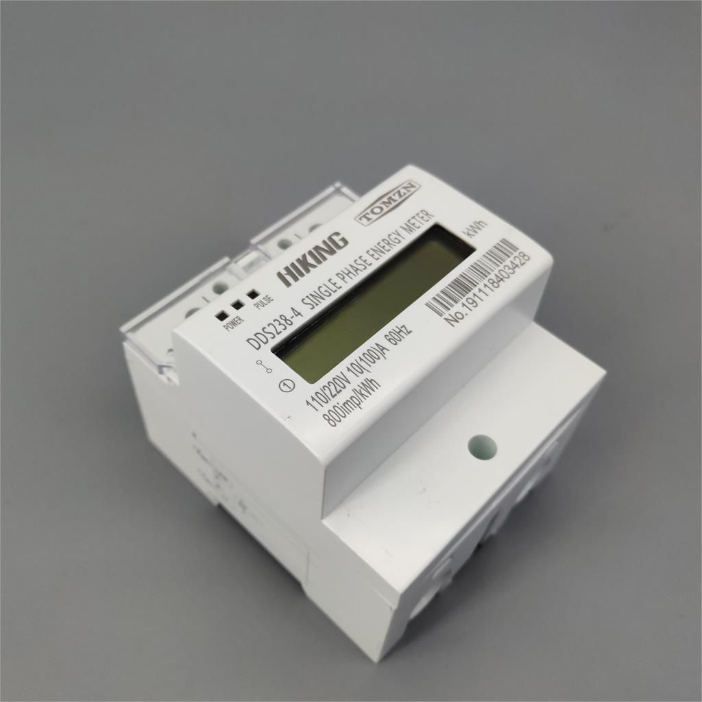 10 (100) un 110 V/220 V 60 HZ monophasé trois fils Din rail KWH Watt heure din-rail compteur d'énergie LCD pour l'amérique