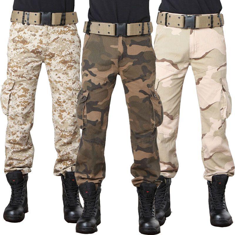 Multi poche Baggy Combat urbain Camouflage Style militaire Cargo pantalon hommes Camo tactique pantalon numérique désert armée couleur verte