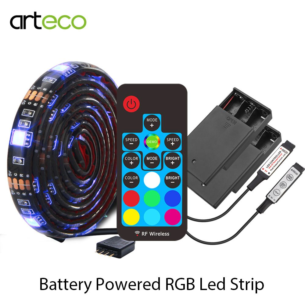 Bande de LED à piles 5050 RGB 1 M IP20 IP65 RGB bande LED flexible
