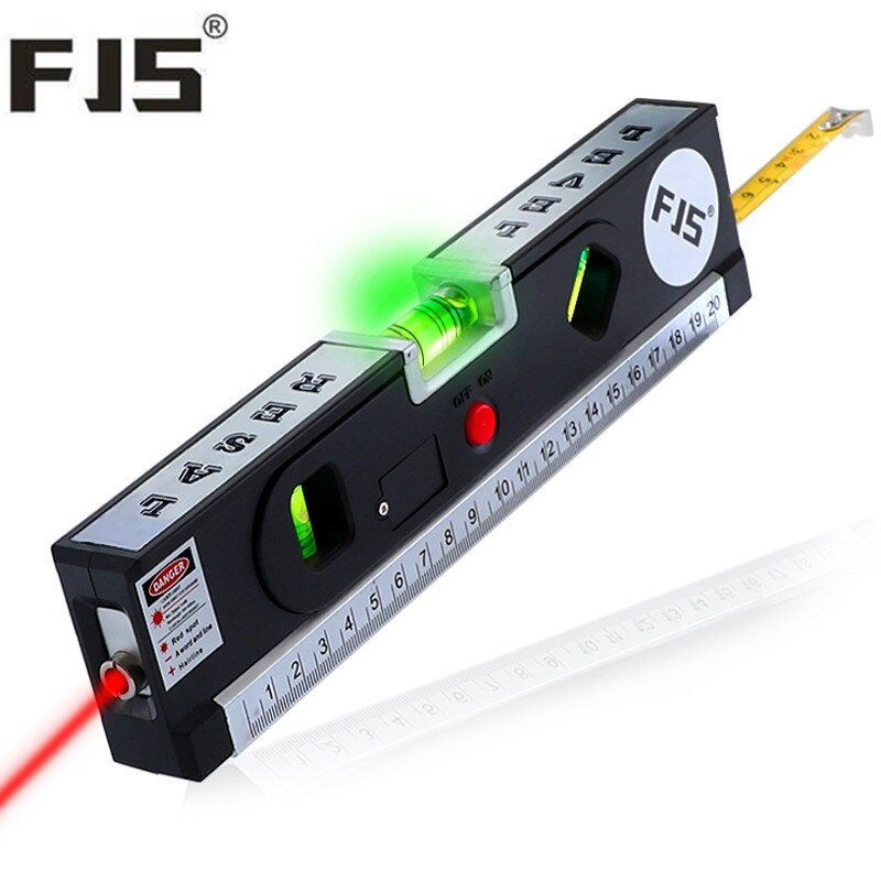 4 In 1 Blister Laser Levels Horizon <font><b>Vertical</b></font> Measuring Tape Aligner Laser Marking Lines Ruler Tool