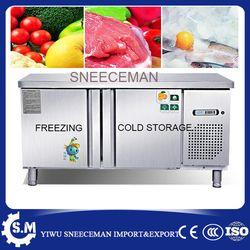 1.2 frío de acero inoxidable Almacenamiento y congelación congelador comercial contador gabinete