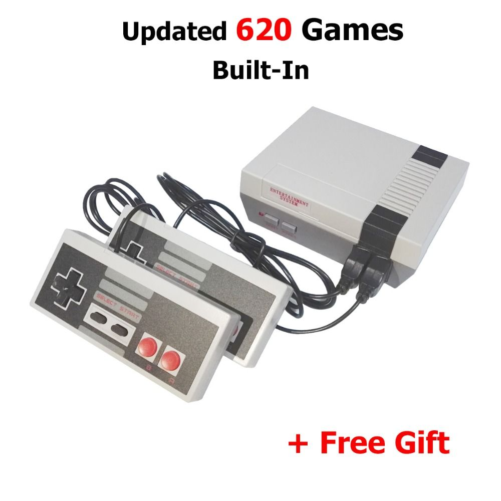 NEW Two Button Mini TV Handheld Game Console Video Game Console For Nes Games with 620 Built-in classical Games PAL and NTSC