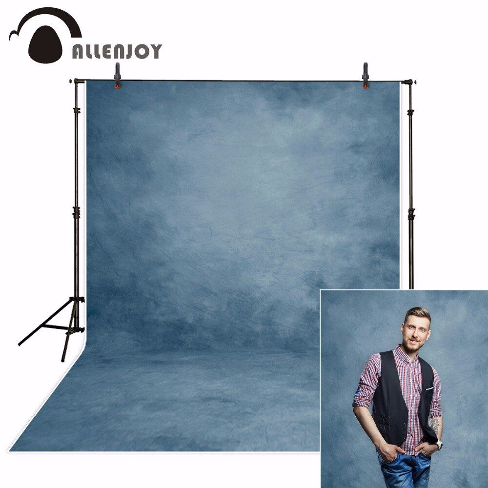 Allenjoy photography background for photo abstract blue solid color old master backdrops photo studio photobooth photophone