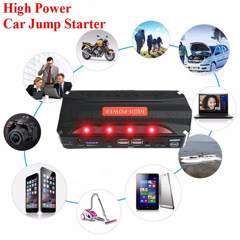 High capacity Car starter with Kit Power Source Emergency Start Battery 12V Car Battery Charger Power Bank