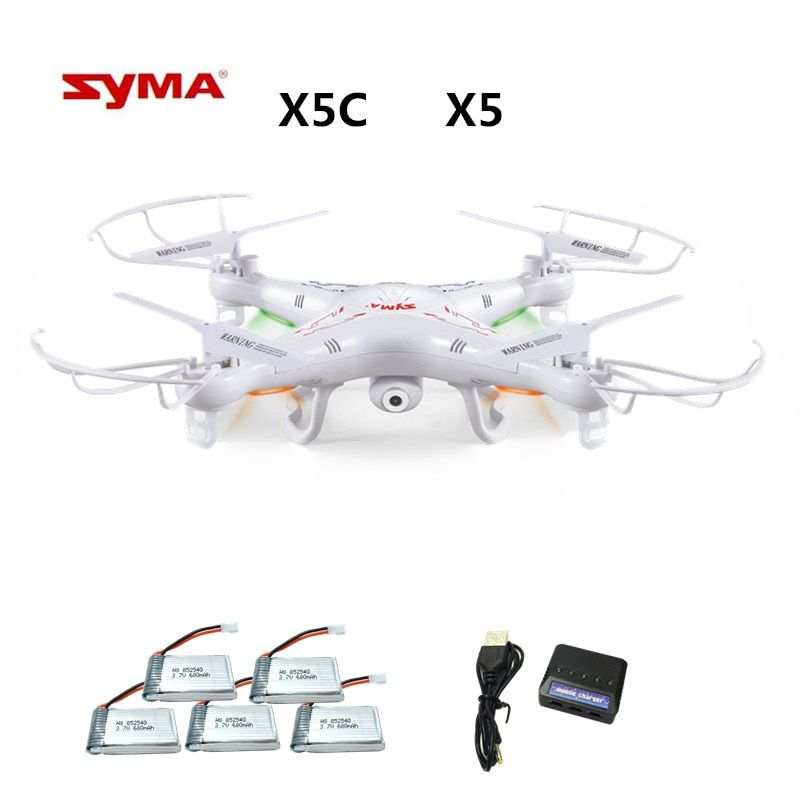Syma X5C X5C-1 (Drone with Camera 2.0MP) Quadrocopter with Camera RC Drone Quadcopter or Syma X5 X5-1 (No Camera) 2.4G 4CH Dron