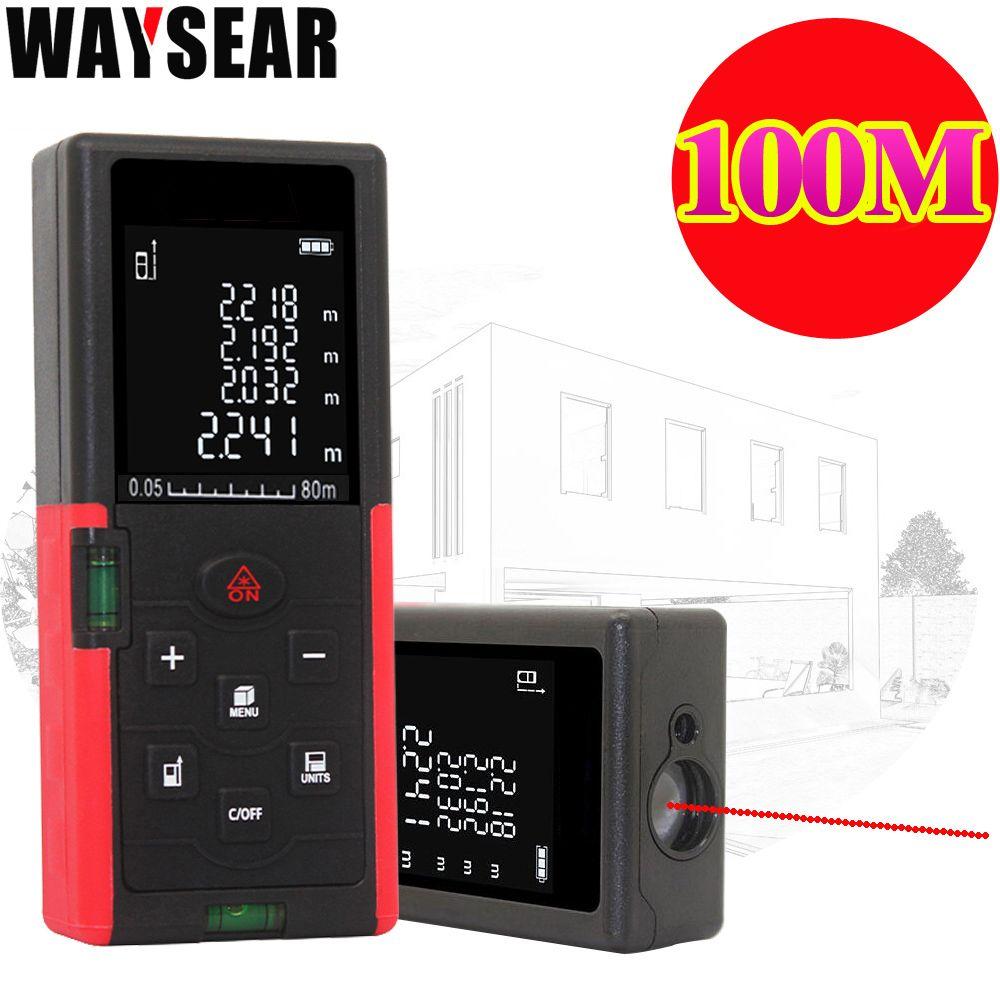 waysear 40m 60M 100M laser rangefinder digital laser distance meter laser Roulette ruler trena tape measure range finder tools