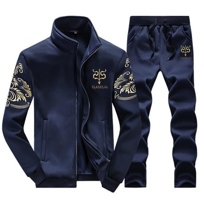 Men's Winter Wool Tracksuit Sportswear Casual Brand Man Leisure Warm Outwear Coats Tracksuits Sets for Male
