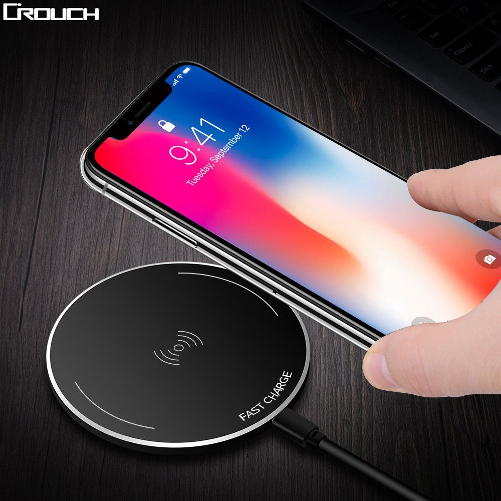 Crouch Wireless Charger for iPhone 8/X /8 Plus 10W Qi Fast Wireless Charging Pad Wireless Charger for Samsung Galaxy S8/S7 /S8 +