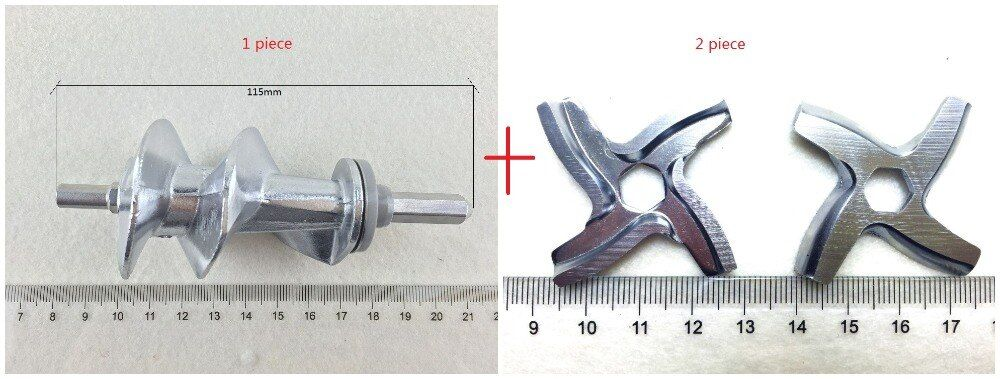 3 piece Free shipping Meat Grinder Screw and <font><b>blades</b></font> Mincer Auger MS-0695960 SS-989843 for Moulinex meat grinder parts