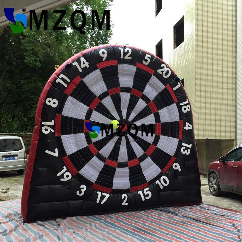 Hot sale Black red  3m/10ft height inflatable dart board inflatable football soccer dart board inflatable soccer darts game
