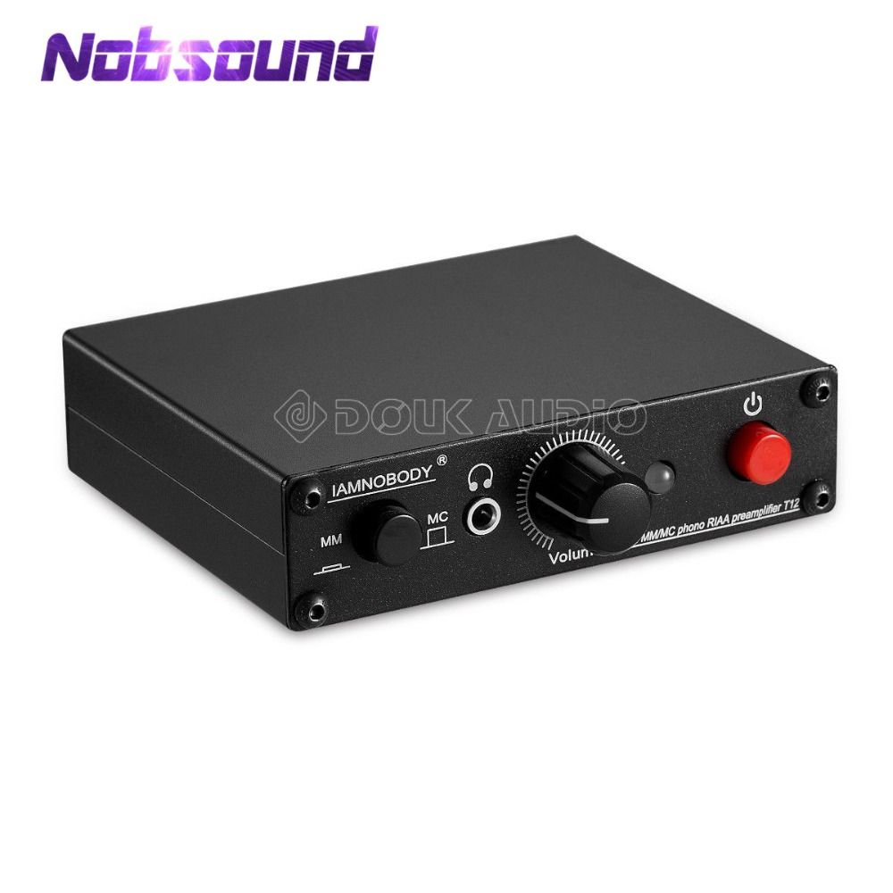 Nobsound Mini MM/MC RIAA Phono Turntable Preamp Hi-Fi Headphone Amp For LP Vinyl Record Player