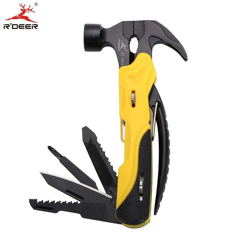Multi Tool Outdoor Survival Knife 7 in 1 Pocket Multi Function Tools Set Mini Foldaway Plers Knife Screwdriver