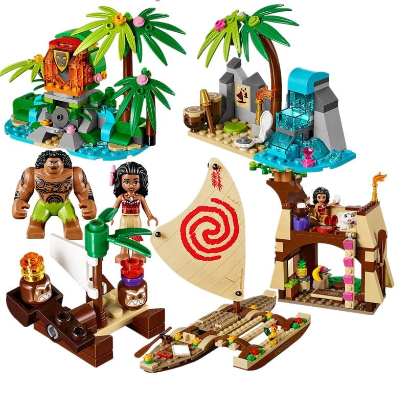 Lepin Friends Pricess Vaiana Moanas Ocean Voyage Restore The Heart Of Te Fiti Building Blocks Set Girls Toys Compatible legoedly