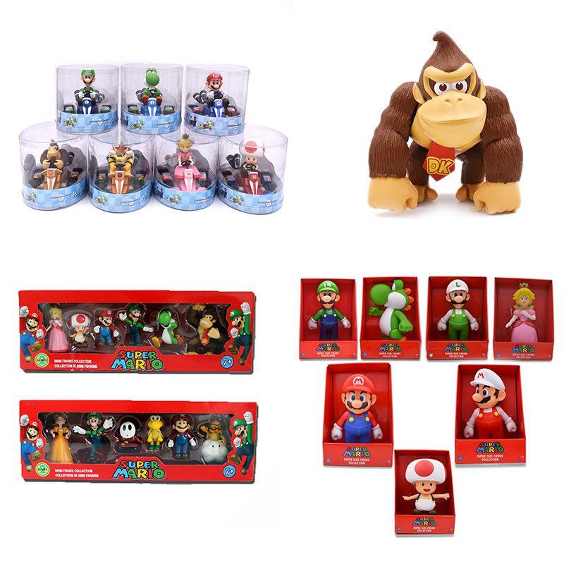 Âne KONG Super Mario Bros Bowser Luigi Koopa Yoshi Mario voiture crapaud pêche princesse Odyssey PVC figurine modèle poupées jouets