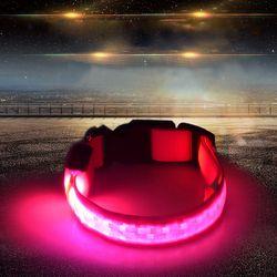 Noche de seguridad LED Collar de perro luminoso enrejado luz Collar para perros grandes medianas al aire libre producción (3 Modo luz)