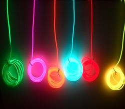 2aa batterie 10 couleur 2-5 m Neon Light Corde Glow EL Fil bande câble Bande 3 V LED Lumière froide Chaussures Vêtements De Voiture décorer ruban lampe