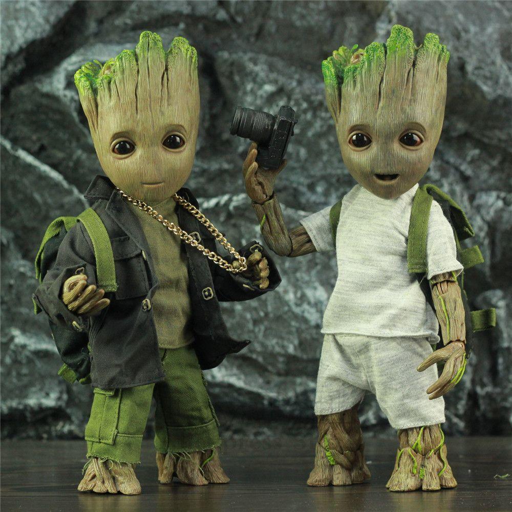 Grandeur nature 1:1 Marvel arbre homme 25CM figurine gardiens de la galaxie Avengers mignon bébé jeune BJD KO's HT jouets chauds légendes