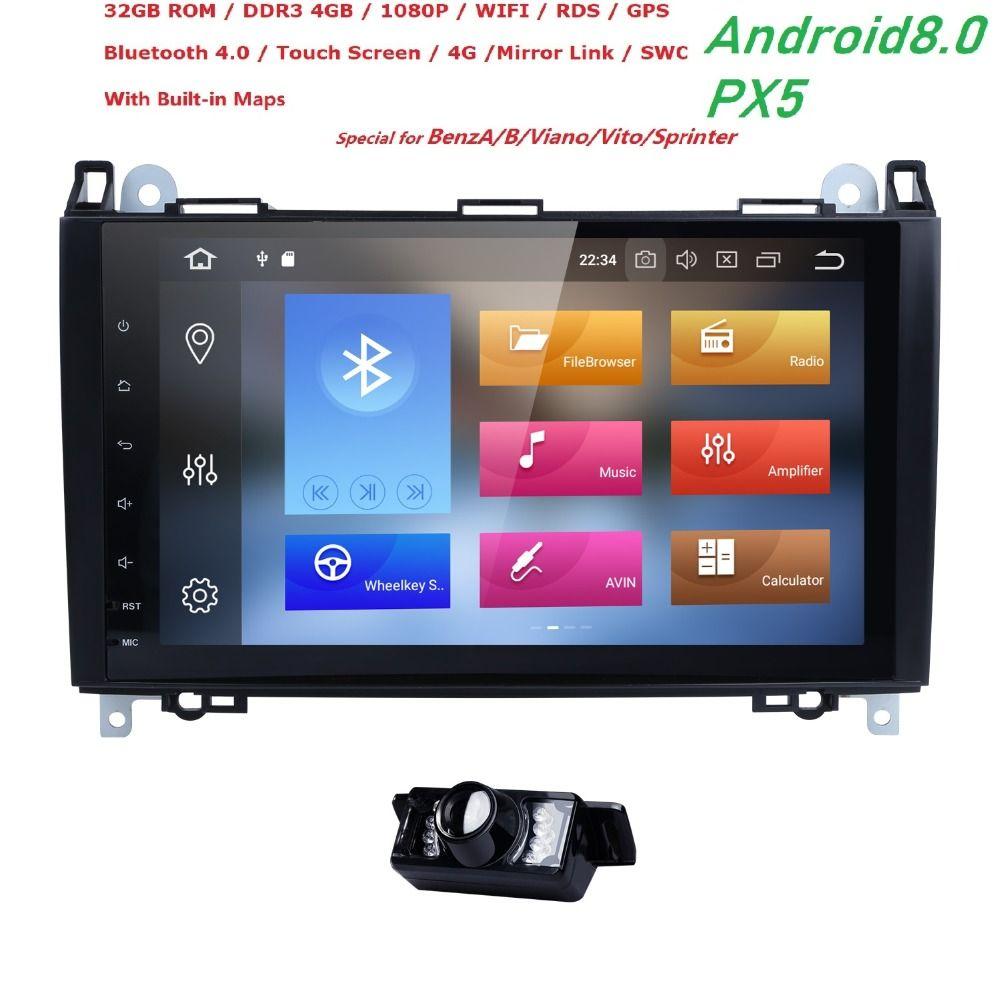 2din Android 8.0 Octa Core Car NODVD For Benz Sprinter W169 W245 W906 Viano Vito W639 B200 with WIFI GPS Navigation Radio 4G RAM