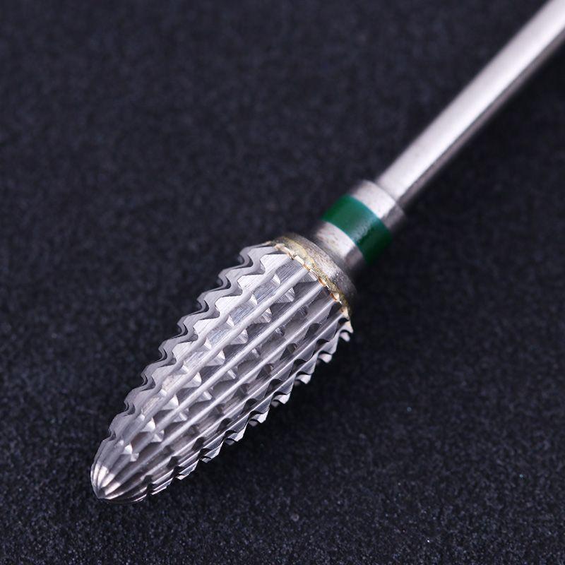 Grün Tungsten Nagelbohrer Für Elektrische Maschine Ersatz Zubehör Cutter Nail Dateien Maniküre Nail art Griding Werkzeug
