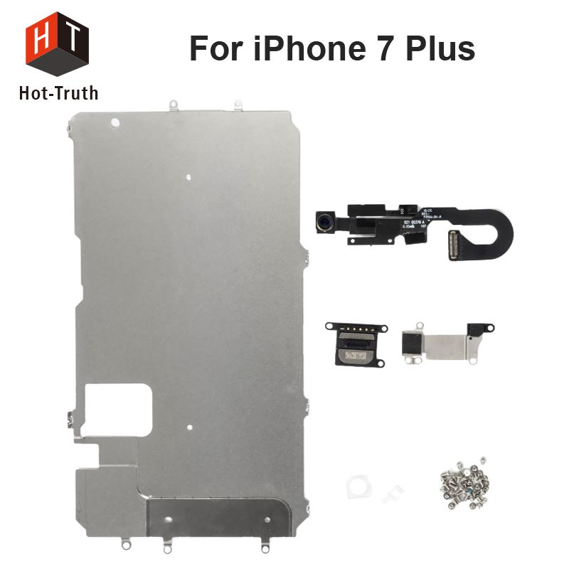 Hot-Truth  Full Set Repair Parts For iPhone 7 Plus LCD Assembly Metal Bracket Front Camera Flex Cable Earpiece Speaker Plate