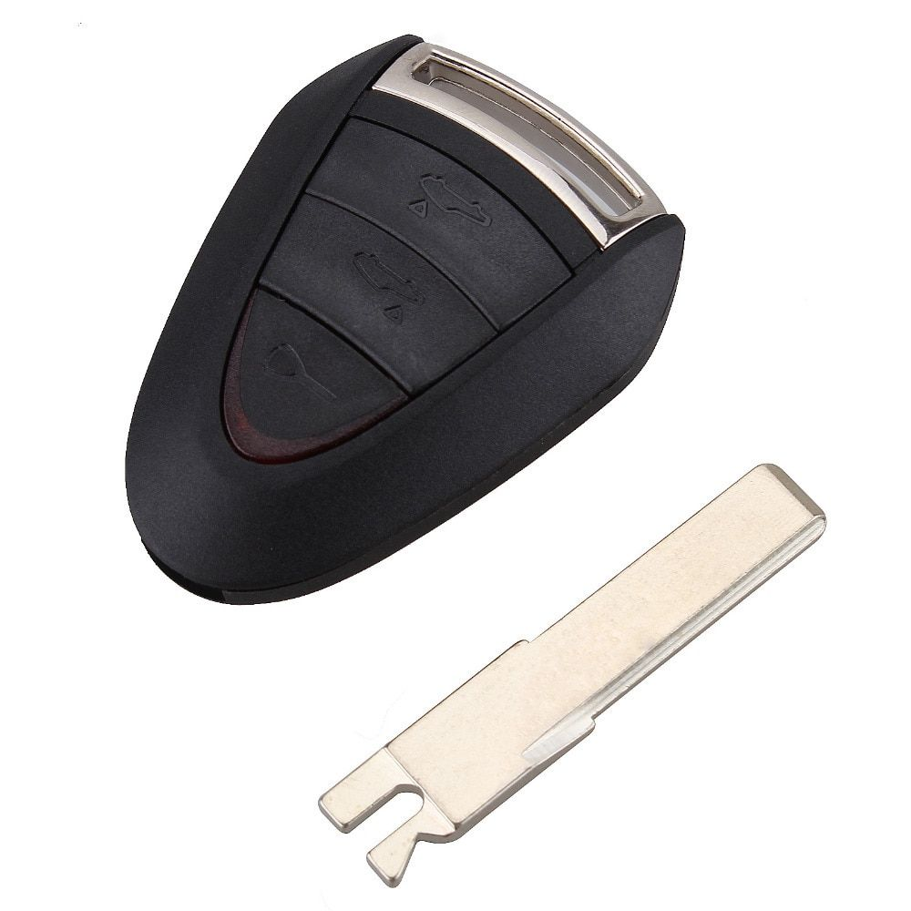 3 Buttons  Remote Car Key Case Combo Uncut Blade Flip Fob Car Key Shell For Porsche Cayenne 996 Boxster S 911 Refit Key Shell